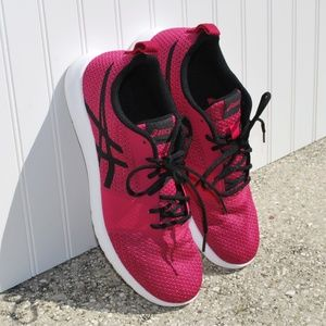 ASICS Pink Lace Up Sneaker Size 10